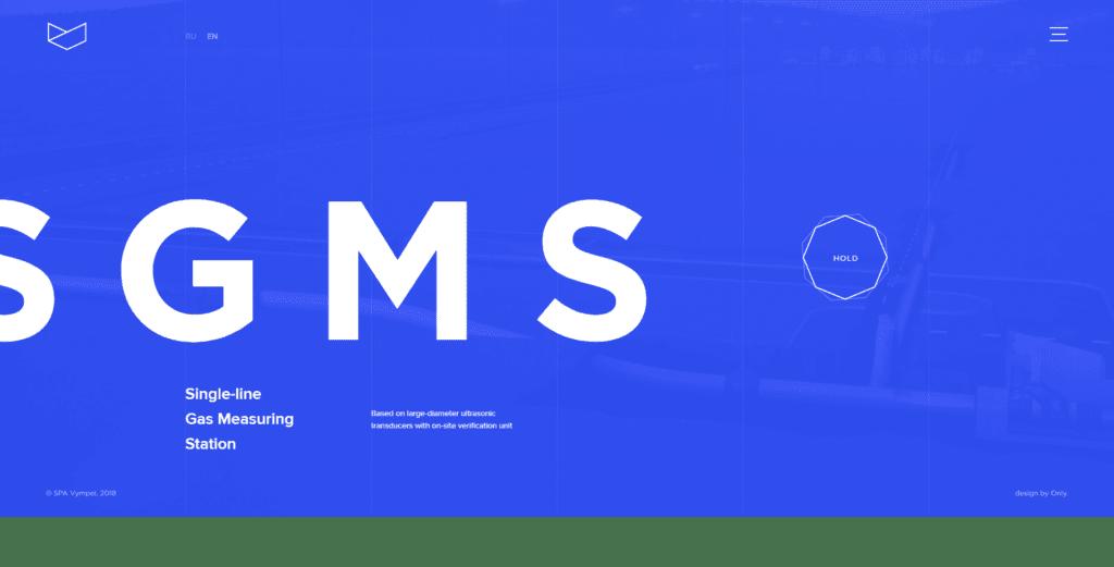 Веб-дизайн в синих цветах